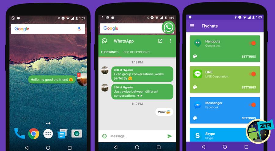 burbujas notifcaciones android