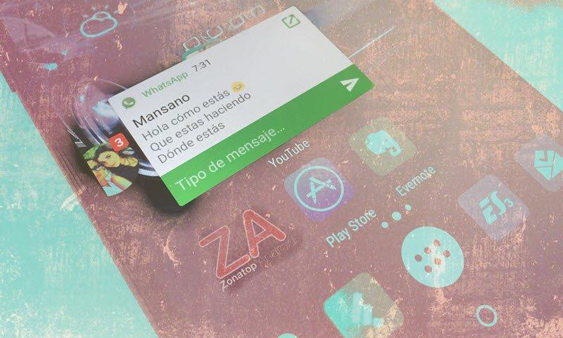 notificaciones flotantes android