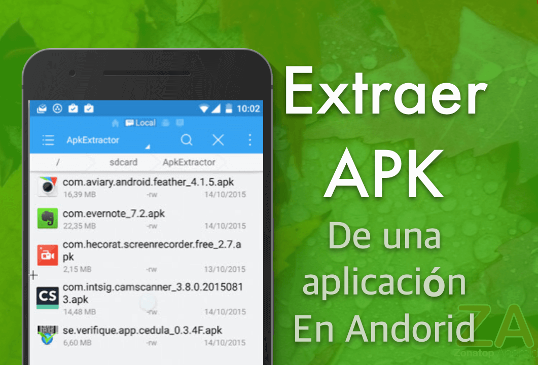 Extraer APK aplicaion Android