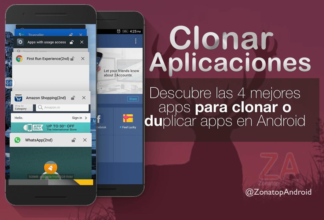 clonar duplicar aplicaciones y juegos Android