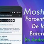 mostrar porcentaje Android