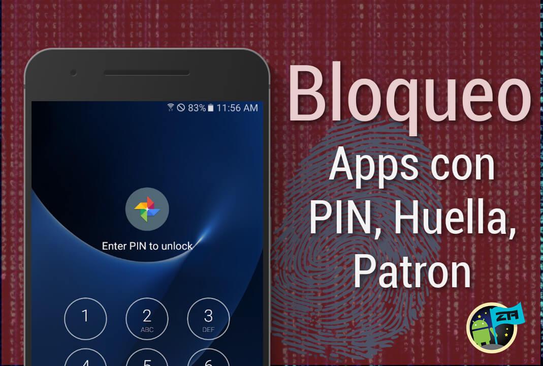 bloquear aplicaciones pin huella