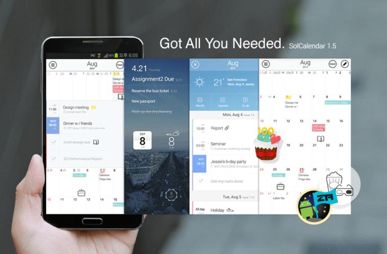 mejores calendarios android gratis