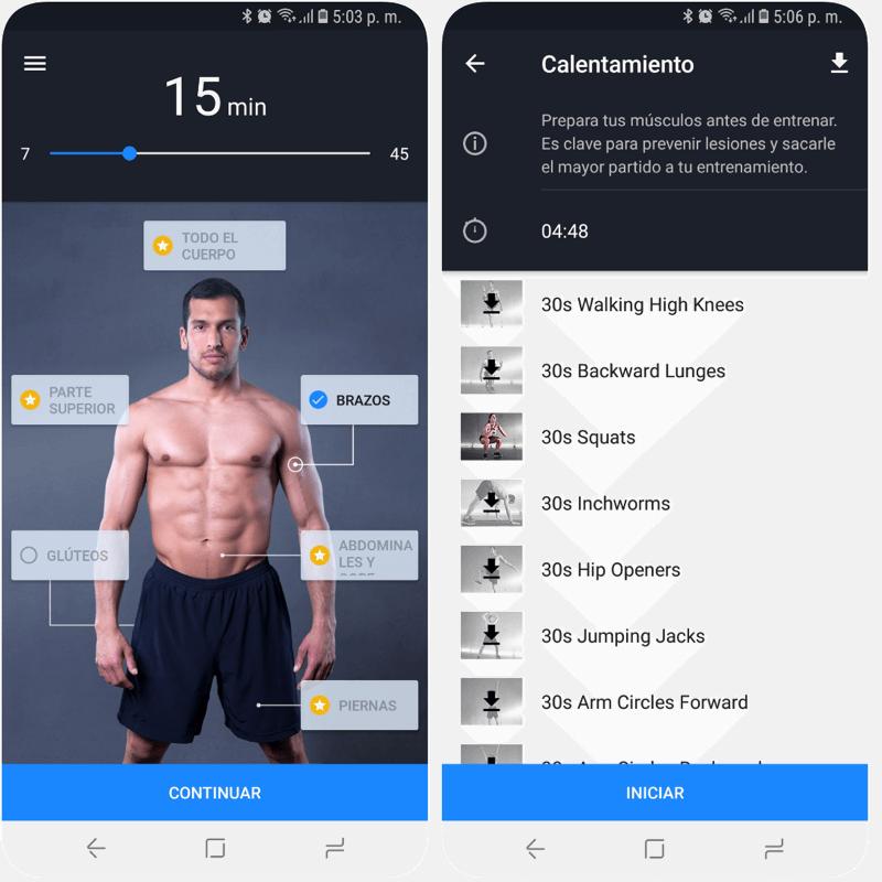 App para bajar de peso en casa