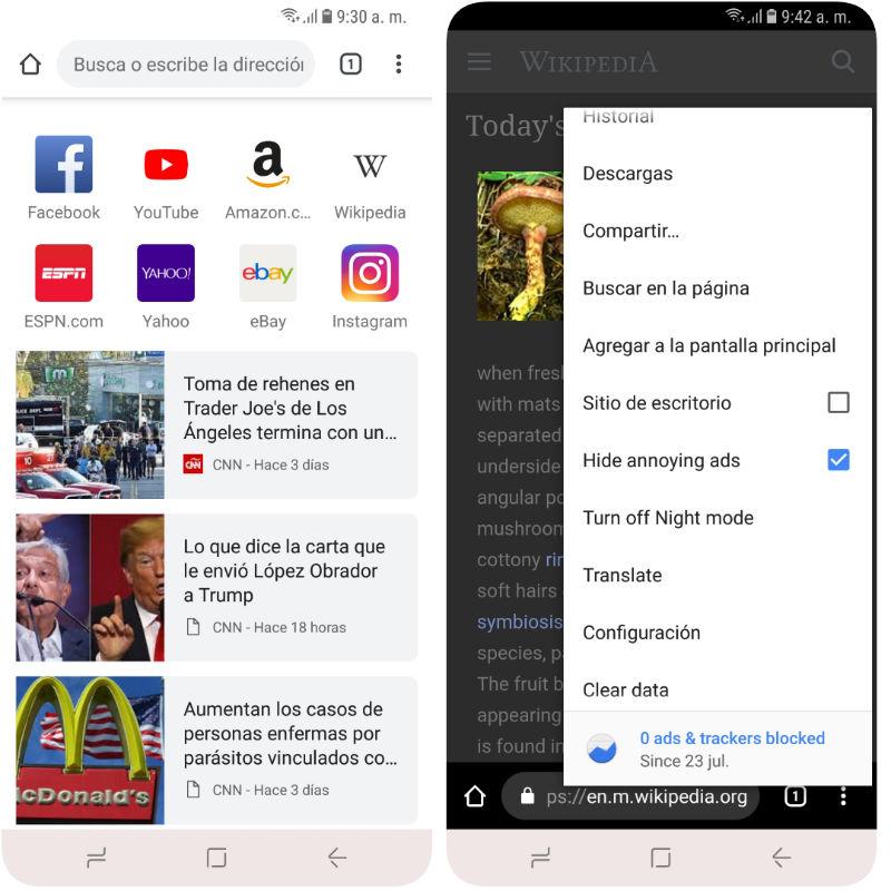Top8 Mejores Navegadores para Android (+Nuevos y Ligeros) 2018