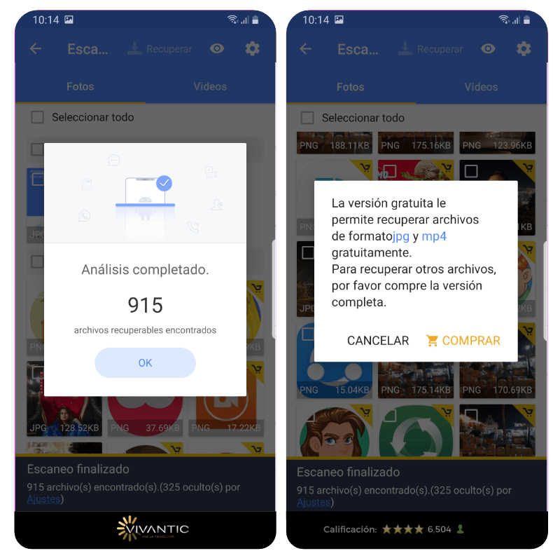 Escanear memoria en Android