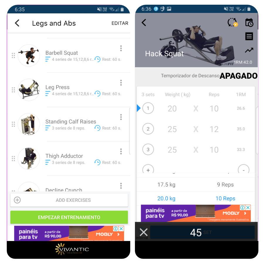 app para crear rutinas de entrenamiento