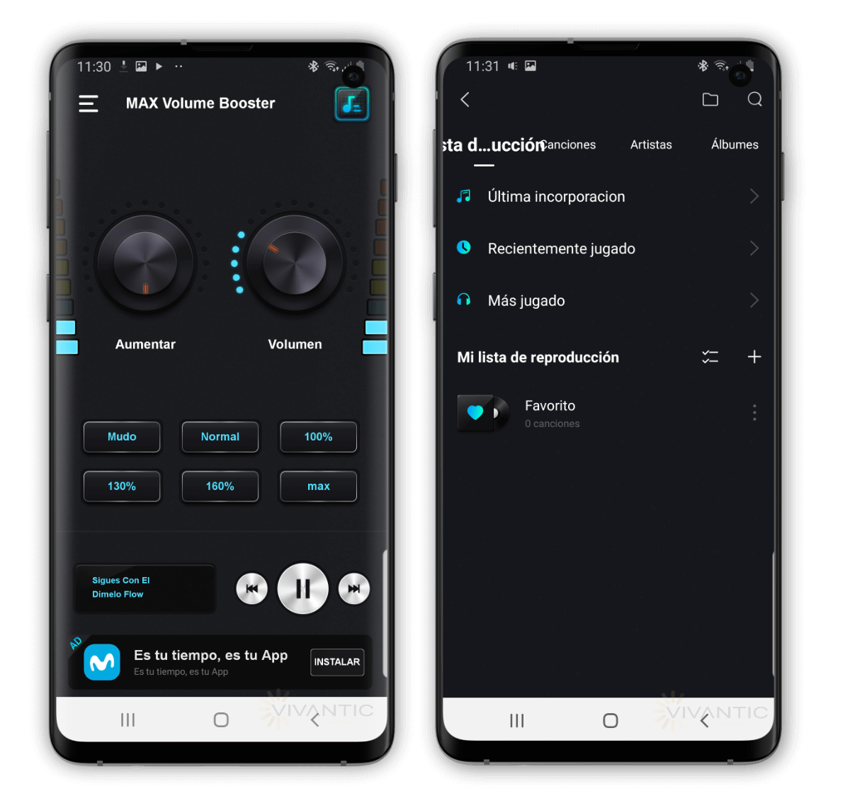 Aumentar el volumen de Android