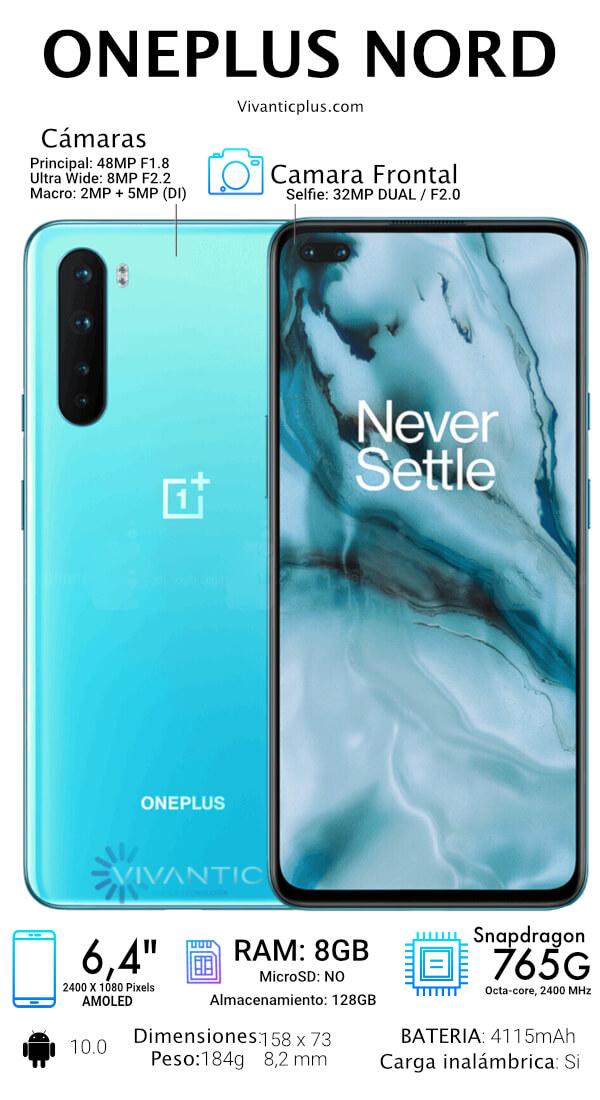 OnePlus Nord Especificaciones