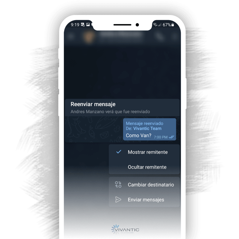 Reenviar mensajes telegram